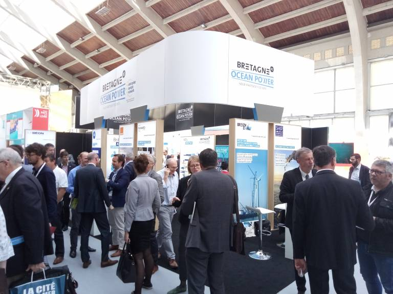 Pavillon Bretagne Ocean Power à Seanergy 2019