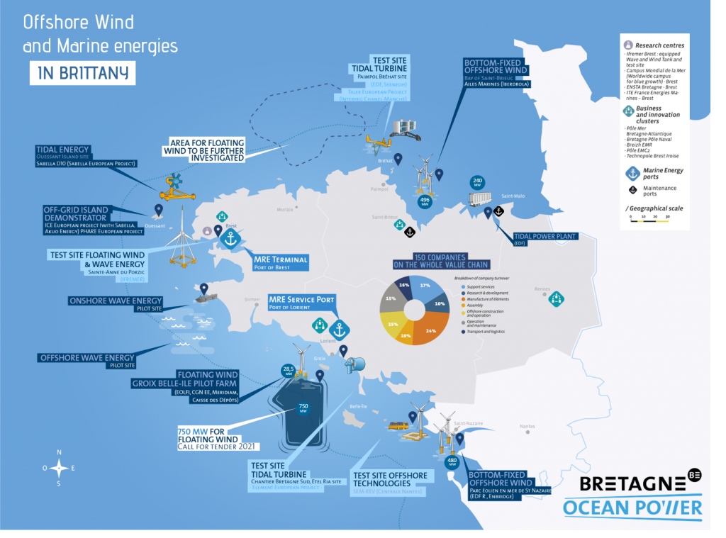 Offshore Wind and Marine energies in Brittany 2021